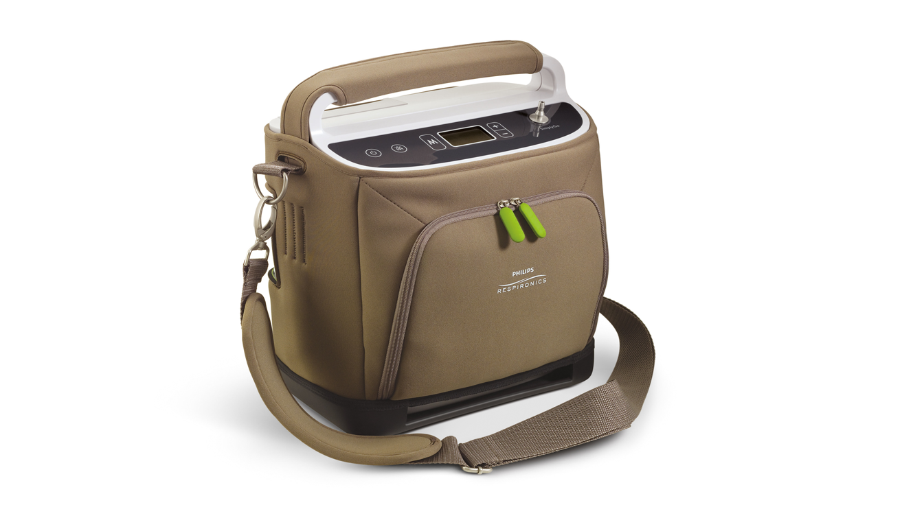 Simply Go portable oxygen concentrator in carry case