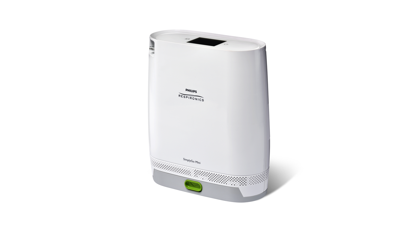 SimplyGo mini portable oxygen concentrator with standard battery